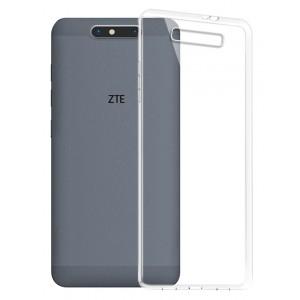 Силиконовый глянцевый транспарентный чехол для ZTE Blade V8
