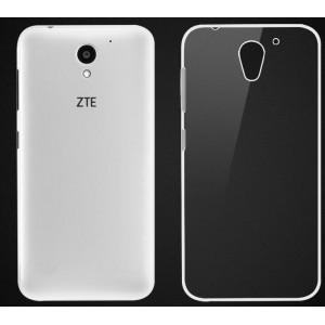 Силиконовый глянцевый транспарентный чехол для ZTE Blade A510