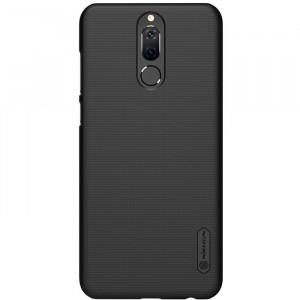 Пластиковый непрозрачный матовый нескользящий премиум чехол для Huawei Nova 2i Черный
