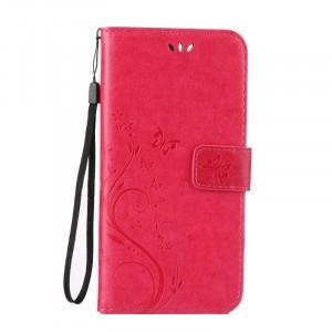 Чехол портмоне подставка текстура Узоры на силиконовой основе на магнитной защелке для Iphone 7/8 Красный