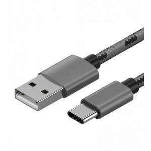 Зарядный кабель в тканевой оплетке USB 3.1 Type-C 1m