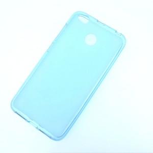 Силиконовый матовый полупрозрачный чехол для Xiaomi RedMi 4X Голубой