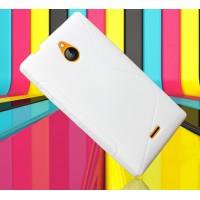 Силиконовый S чехол для Nokia X2 Белый