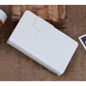 Текстурный чехол флип подставка с застежкой и внутренними карманами для Sony Xperia E dual