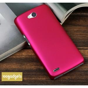 Пластиковый матовый металлик чехол для Philips W8510 Xenium Пурпурный