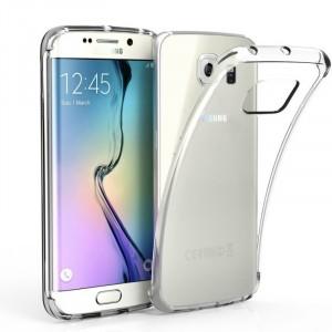 Силиконовый глянцевый транспарентный чехол для Samsung Galaxy S6 Edge