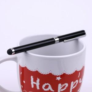 Двусторонний универсальный емкостной стилус-ручка Черный