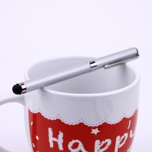 Двусторонний универсальный емкостной стилус-ручка Серый