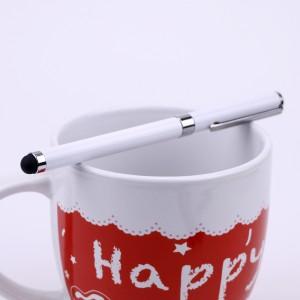 Двусторонний универсальный емкостной стилус-ручка Белый