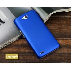 Пластиковый матовый металлик чехол для Philips W8510 Xenium Синий
