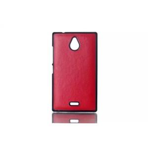 Пластиковый текстурный чехол накладка дизайн Кожа для Nokia X2