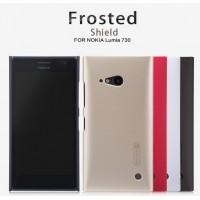 Пластиковый матовый нескользящий премиум чехол для Nokia Lumia 730/735