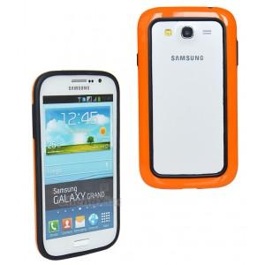 Силиконовый бампер для Samsung Galaxy Grand Duos (i9082) Оранжевый