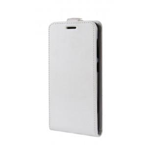 Глянцевый водоотталкивающий чехол вертикальная книжка на силиконовой основе с отсеком для карт на магнитной защелке для ASUS ZenFone 5 Lite Белый