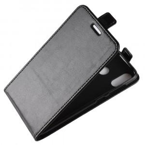 Глянцевый водоотталкивающий чехол вертикальная книжка на силиконовой основе с отсеком для карт на магнитной защелке для ASUS ZenFone 5 ZE620KL/5Z Черный