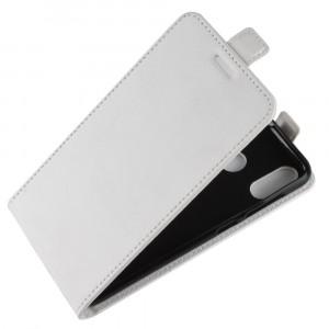 Глянцевый водоотталкивающий чехол вертикальная книжка на силиконовой основе с отсеком для карт на магнитной защелке для ASUS ZenFone Max M1 ZB555KL Белый