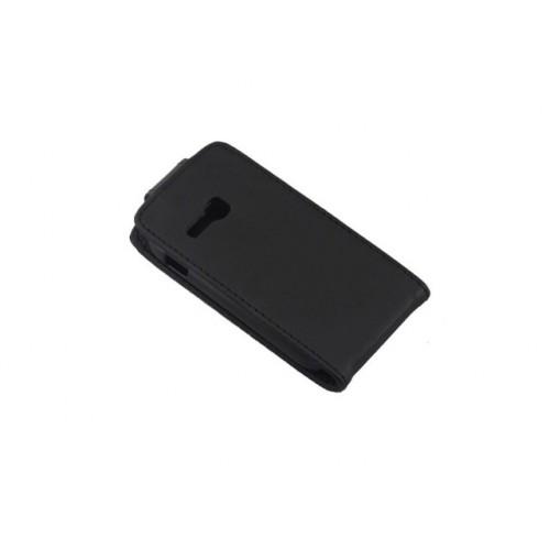 Чехол вертикальная книжка на пластиковой основе с магнитной застежкой для Samsung Galaxy Fame Lite