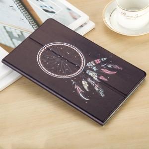 Сегментарный чехол книжка подставка на непрозрачной поликарбонатной основе с магнитной защелкой и полноповерхностным принтом для Huawei MediaPad M5 10.8