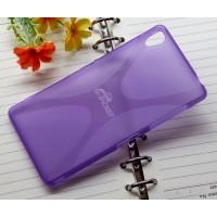Силиконовый X чехол для Sony Xperia Z3 Фиолетовый