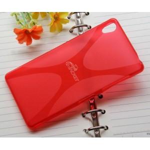 Силиконовый X чехол для Sony Xperia Z3 Красный