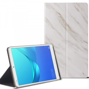 Сегментарный чехол книжка подставка текстура Камень на непрозрачной поликарбонатной основе для Huawei MediaPad M5 8.4