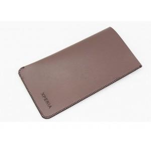 Чехол кожаный мешок для Sony Xperia Z3 Коричневый