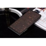 Металлический винтовой бампер повышенной прочности с клеевой накладкой с рельефным принтом для Sony Xperia Z3