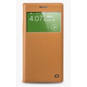 Кожаный встраиваемый смарт флип чехол с окном вызова для Samsung Galaxy Grand 2 Duos