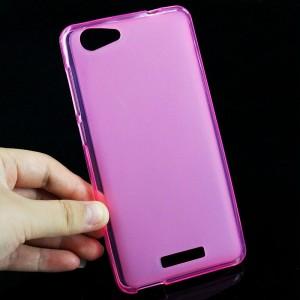 Силиконовый матовый полупрозрачный чехол для Highscreen Power Rage Розовый