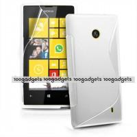 Силиконовый S чехол для Nokia Lumia 520 Белый