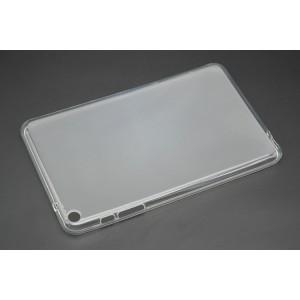 Силиконовый полупрозрачный матовый чехол для Huawei MediaPad T1 8.0 Белый