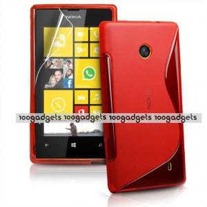 Силиконовый S чехол для Nokia Lumia 520 Красный
