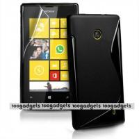Силиконовый S чехол для Nokia Lumia 520 Черный