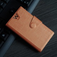 Текстурный чехол флип-подставка с защелкой для Lenovo Vibe X2 Оранжевый