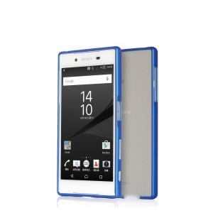 Металлический бампер на пряжке для Sony Xperia Z5 Синий