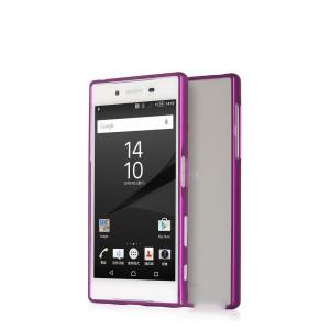 Металлический бампер на пряжке для Sony Xperia Z5 Фиолетовый