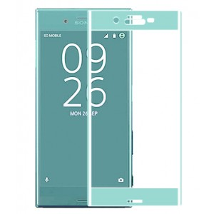 Полноэкранное ультратонкое износоустойчивое сколостойкое олеофобное защитное стекло-пленка для Sony Xperia X Compact