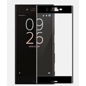 Полноэкранное ультратонкое износоустойчивое сколостойкое олеофобное защитное стекло-пленка для Sony Xperia X Compact Черный