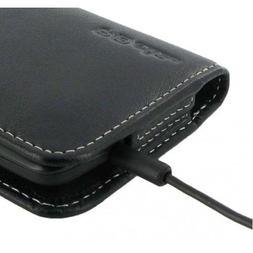 Кожаный чехол кобура с магнитной застежкой и крепежом на пояс для Acer Liquid E700 (изготовление на заказ)