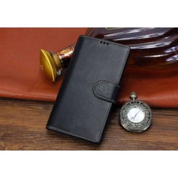 Кожаный чехол портмоне (нат. кожа) для Fly Universe 5.7 IQ457