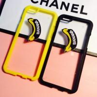 Силиконовый полупрозрачный чехол с принтом Banana для Iphone 6 Желтый