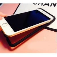 Силиконовый полупрозрачный чехол с принтом Banana для Iphone 6 Черный