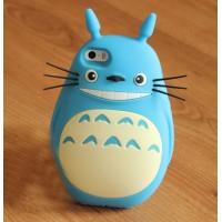 Силиконовый дизайнерский фигурный чехол с 3d-усами для Iphone 6 Голубой
