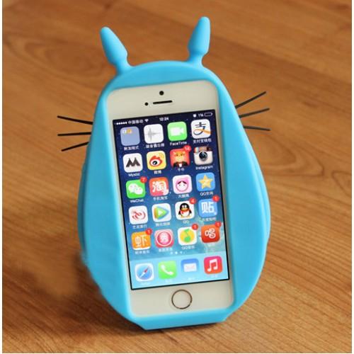 Силиконовый дизайнерский фигурный чехол с 3d-усами для Iphone 6