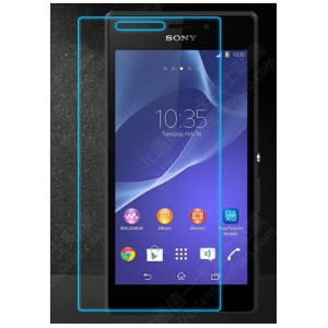 Ультратонкое износоустойчивое сколостойкое олеофобное защитное стекло-пленка для Sony Xperia M2 Aqua
