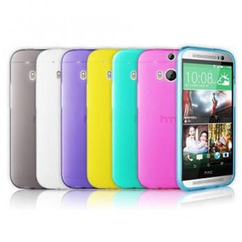 Ультратонкий силиконовый чехол для HTC One (M8) серия Rainbow