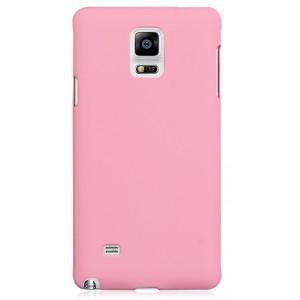 Пластиковый матовый грязестойкий чехол Металлик для Samsung Galaxy Note 4 Розовый