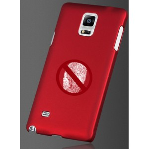 Пластиковый матовый грязестойкий чехол Металлик для Samsung Galaxy Note 4