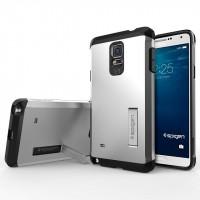 Силиконовый премиум чехол-подставка с поликарбонатной крышкой для Samsung Galaxy Note 4 Белый