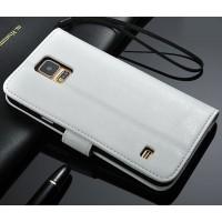 Чехол портмоне подставка с защелкой для Samsung Galaxy Note 4 Белый